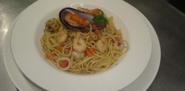 Spaghetti ao frutos do mar
